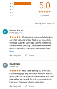 Mission Restoration Reviews