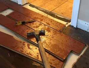 Water Damage Wood Flooring - San Diego, CA