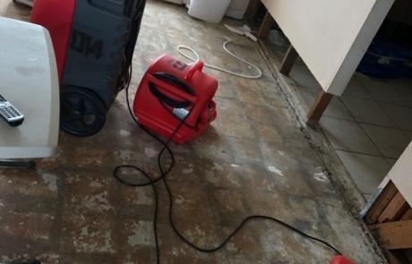 Dehumidifying Floor Affected By Flood Damage - San Diego, CA