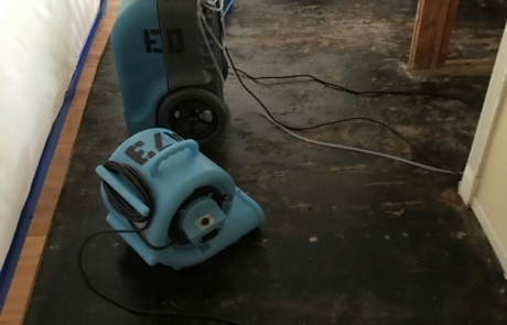 Dehumidifying Floor In Bedroom - Mission Water Damage Restoration - San Diego, CA