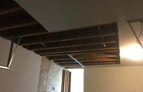Removing Ceiling Panels Affected By Flood Damage - Mission Water Damage Restoration - San Diego, CA